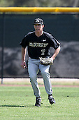 March 13, 2010:  Outfielder Clayton Mosley of Army vs. Long Island University Blackbirds in a game at Henley Field in Lakeland, FL.  Photo By Mike Janes/Four Seam Images