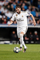 26th November 2019; Estadio Santiago Bernabeu, Madrid, Spain; UEFA Champions League Football, Real Madrid versus Paris Saint Germain; Karim Benzema (Real Madrid)  in action during the match  - Editorial Use