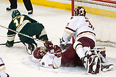 Craig Puffer (UVM - 17), Casey Fitzgerald (BC - 5), Joe Woll (BC - 31) - The Boston College Eagles defeated the University of Vermont Catamounts 7-4 on Saturday, March 11, 2017, at Kelley Rink to sweep their Hockey East quarterfinal series.The Boston College Eagles defeated the University of Vermont Catamounts 7-4 on Saturday, March 11, 2017, at Kelley Rink to sweep their Hockey East quarterfinal series.