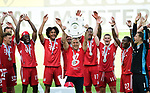 """Deutscher Meister 2020, FC Bayern Muenchen, Trainer Hans-Dieter """"Hansi"""" Flick mit Meisterschale<br />Wolfsburg, 27.06.2020: nph00001: , Fussball Bundesliga, VfL Wolfsburg - FC Bayern Muenchen 0:4<br />Foto: Tim Groothuis/Witters/Pool//via nordphoto<br /> DFL REGULATIONS PROHIBIT ANY USE OF PHOTOGRAPHS AS IMAGE SEQUENCES AND OR QUASI VIDEO<br />EDITORIAL USE ONLY<br />NATIONAL AND INTERNATIONAL NEWS AGENCIES OUT"""