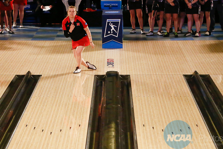 BATON ROUGE, LA - APRIL 15: The University of Nebraska takes on McKendree University during the Division I Women's Bowling Championship held at the Baton Rouge River Center on April 15, 2017 in Baton Rouge, Louisiana. (Photo by Tim Nwachukwu/NCAA Photos via Getty Images)