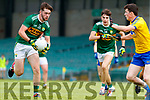 Jack O Connor Kerry in action against Cathal Brogan Roscommon during the Kerry v Roscommon All Ireland Minor Quarter Final at the Gaelic Grounds in Limerick on Saturday.