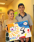 One Life To Live Kristen Alderson and Andy Lentz paints at the Painting Party on May 15, 2011 on Marco Island, Florida - SWSL Soapfest Charity Weekend May 14 & !5, 2011 benefitting several children's charities including the Eimerman Center providing educational & outreach services for children for autism. see www.autismspeaks.org. (Photo by Sue Coflin/Max Photos)