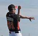 Ichiro Suzuki (Marlins),<br /> FEBRUARY 25, 2014 - MLB :<br /> Ichiro Suzuki of the Miami Marlins stretches during the Miami Marlins spring training camp in Jupiter, Florida, United States. (Photo by AFLO)