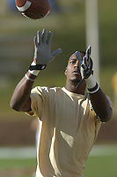 12 November 2005:  Georgia Tech WR Calvin Johnson (21)..The Virginia Cavaliers defeated the Georgia Tech Yellow Jackets 27-17 at Scott Stadium in Charlottesville, VA.
