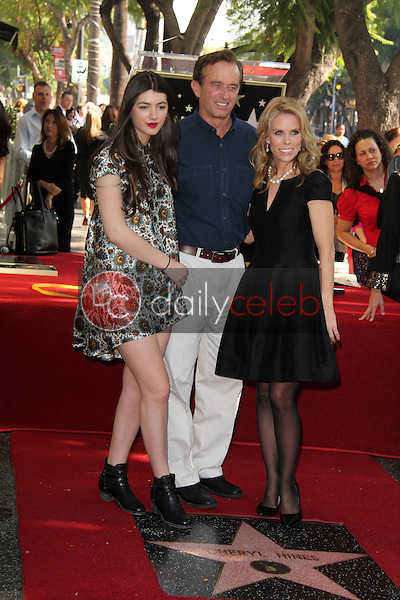 Cheryl Hines, Robert F. Kennedy Jr. and his daughter<br /> at the Cheryl Hines Star on the Hollywood Walk of Fame, Hollywood, CA 01-29-14<br /> David Edwards/DailyCeleb.Com 818-249-4998