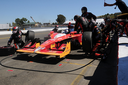26-28 August, 2011, Sonoma, California USA<br /> Marco Andretti pit stop.<br /> (c)2011, Paul Webb<br /> LAT Photo USA