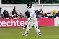 Tom Westley of Essex leaves the field having been dismissed for 15 during Worcestershire CCC vs Essex CCC, Specsavers County Championship Division 1 Cricket at Blackfinch New Road on 11th May 2018