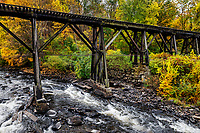 Franklin  Trestle Bridge, Franklin, New Hampshire, USA.