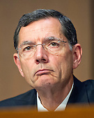 """United States Senator John Barrasso (Republican of Wyoming), a member of the U.S. Senate Foreign Relations Committee, listens to testimony during the hearing on """"Authorization of Use of Force in Syria"""" on Capitol Hill in Washington, D.C. on Tuesday, September 3, 2013.<br /> Credit: Ron Sachs / CNP"""
