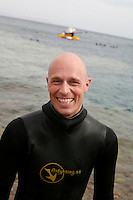 "Freediving competition ""Bizzy Blue Hole"" in Dahab,Sinai in Egypt..Christian Ernest,Sweden, 57meters CNF."
