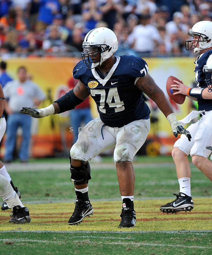 Jan 1 2011; Penn State OL John Troutman (74) during  game against Florida. Florida won the 25th anniversary of the Outback Bowl 37-24 at  Raymond James Stadium Tampa, FL. Mandatory Credit: Tomasso DeRosa