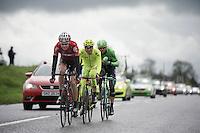 breakaway group: Sander Armee (BEL/Lotto-Belisol), Maarten Tjallingii (NLD/Belkin), Jeffry Johan Romero (COL/Colombia) &amp; Andrea Fedi (ITA/Neri Sottoli) <br /> <br /> Giro d'Italia 2014<br /> stage 2: Belfast-Belfast <br /> 219km