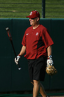 25 October 2007: Stanford Cardinal head coach John Rittman during Stanford's 5-4 loss in seven innings against the San Jose State Spartans at Boyd & Jill Smith Family Stadium in Stanford, CA.