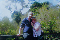 Pictured: Copy picture of Lynne Lewis with husband Thomas John Lewis circa 2000.<br /> Re: Lynne Lewis, 66, from Pentwyn, south Wales, whose late husband Thomas John Lewis worked for BT for 42 years and BT keep delaying his pension pay out after his death in early November 2018.