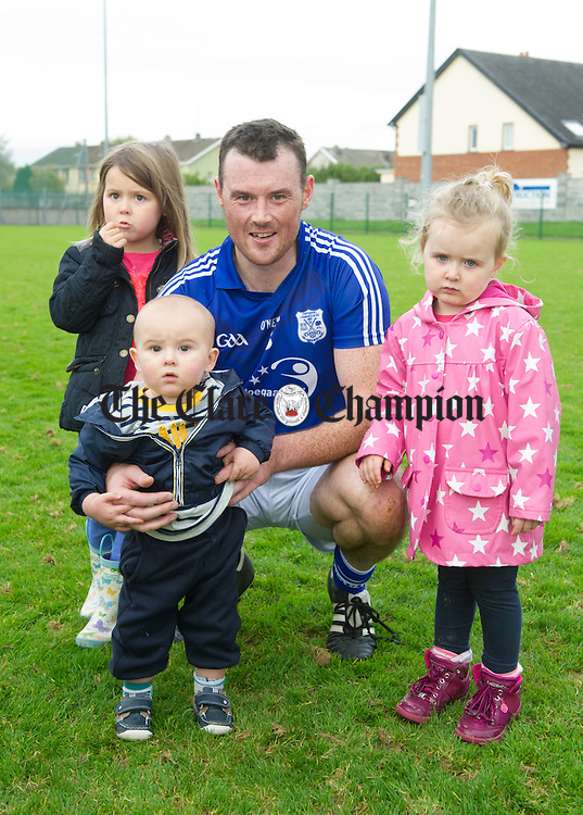 Conor Earley and kids following their Junior B county football final in Shannon. Photograph by John Kelly.