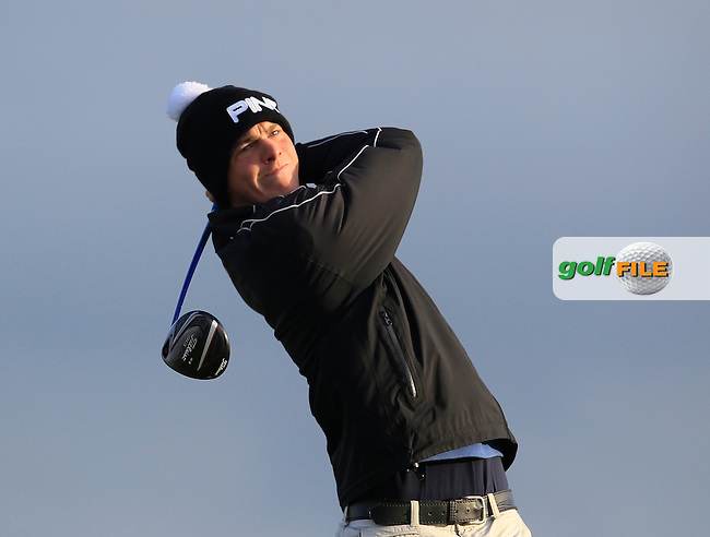 Keith Murphy (Charlesland) on the 2nd tee during Round 2 of the South of Ireland Amateur Open Championship at LaHinch Golf Club on Thursday 23rd July 2015.<br /> Picture:  Golffile | Thos Caffrey