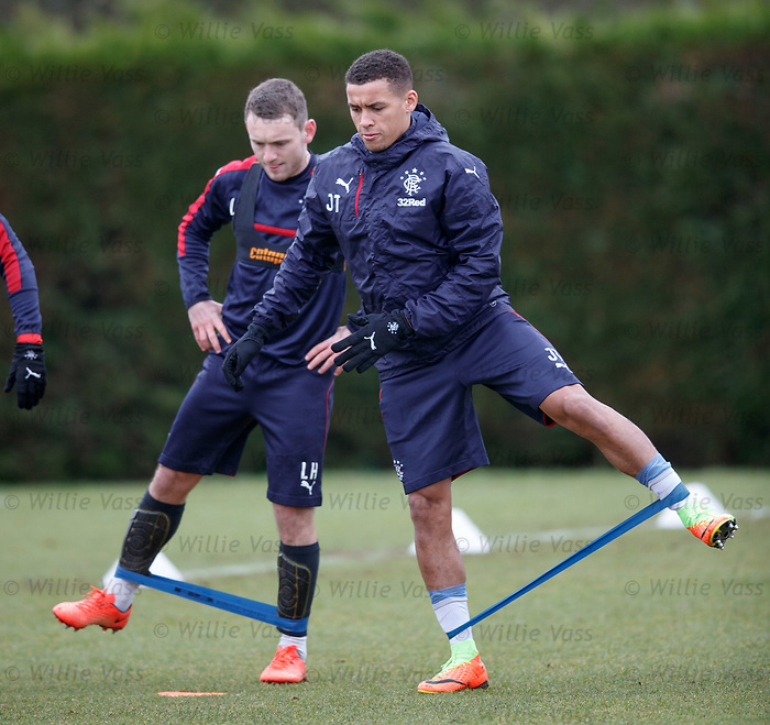 James Tavernier and Lee Hodson