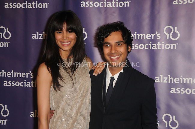 WWW.ACEPIXS.COM . . . . .  ....March 21 2012, LA....Neha Kapu and Kunal Nayyar arriving at the 20th Anniversary Alzheimer's Association 'A Night At Sardi's'at The Beverly Hilton Hotel on March 21, 2012 in Beverly Hills, California. ....Please byline: PETER WEST - ACE PICTURES.... *** ***..Ace Pictures, Inc:  ..Philip Vaughan (212) 243-8787 or (646) 769 0430..e-mail: info@acepixs.com..web: http://www.acepixs.com