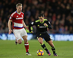 Eden Hazard of Chelsea goes past Grant Leadbitter of Middlesbrough during the English Premier League match at the Riverside Stadium, Middlesbrough. Picture date: November 20th, 2016. Pic Simon Bellis/Sportimage