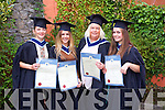 Abby Sheridan (Tralee), Karen Foran (Causeway), Julia Hennessy (The Maherees), Annamaria Bowa (Germany).At the Institute of Technology Tralee at the Autumn Confirming of Awards Ceremony at the Brandon Hotel on Friday