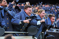 Baltimore, MD - DEC 10, 2016: Army fans are fired up before the game between Army and Navy at M&T Bank Stadium, Baltimore, MD. (Photo by Phil Peters/Media Images International)