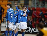 Murray Davidson celebrates his goal for St Johnstone