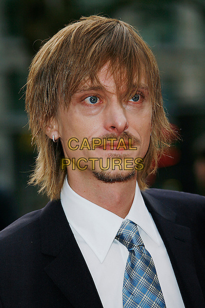 """MACKENZIE CROOK .World Premiere of """"Three and Out"""" at the Odeon Leicester Square, London, England, April 21st 2008.3 portrait headshot beard facial hair moustache blue tie.CAP/DAR.©Darwin/Capital Pictures"""