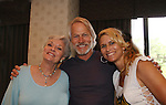 "All My Children - Lee Meriwether ""Ruth Martin"" and batman the movie and daughter Lesley (stunt woman) pose with Michael Beck (star of Xanadu and The Warriors) at the Super Megashow & Comic Fest on August 30, 2009 in Secaucus, New Jersey (Photo by Sue Coflin/Max Photos)"
