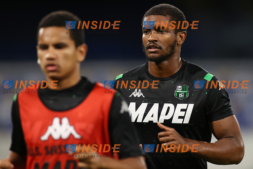 Marlon US Sassuolo prior to the Serie A football match between SSC  Napoli and US Sassuolo at stadio San Paolo in Naples ( Italy ), July 25th, 2020. Play resumes behind closed doors following the outbreak of the coronavirus disease. <br /> Photo Cesare Purini / Insidefoto
