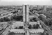 Chantry Point, one of two asbestos-ridden towers on Elgin Estate, North Paddington, later demolished.