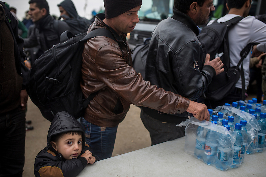 A Yazidi boy from Iraq, where thousands of Yazidis where killed by ISIS fighters, was amongst a busload of people arriving at the  Serbian-Croatian border, from where they had to wait in order to cross into Croatia and make their way onwards towards Western Europe. Most immigrants who arrived at the border post were hoping to make it to Germany, where they expect good social support and a way to establish a new life, far away from the insecurity faced in many war-torn countries including Syria, Iraq and Afghanistan.