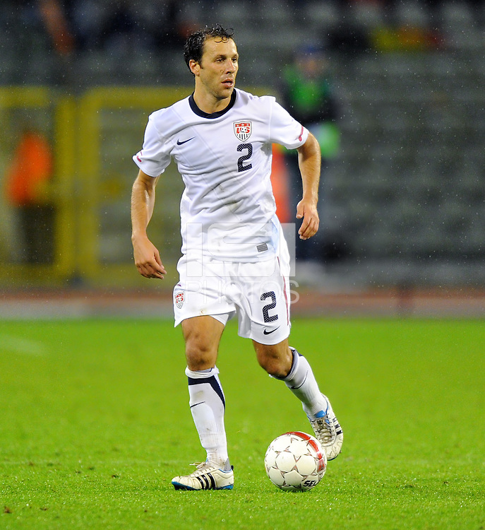 Steven Cherundolo of team USA during the friendly match Belgium against USA at King Baudoin stadium in Brussel, Belgium on September 06th, 2011.