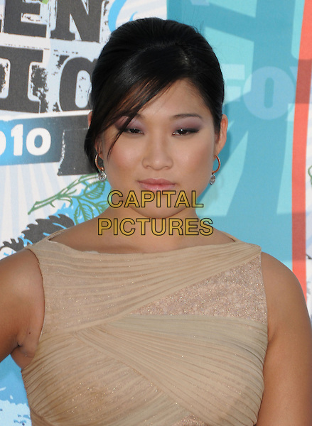 JENNA USHKOWITZ .Arrivals - Fox Teen Choice 2010 Awards held at Universal Ampitheatre in Universal City, California, USA,.August 8th 2010..portrait headshot beige sleeveless .CAP/RKE/DVS.©DVS/RockinExposures/Capital Pictures.