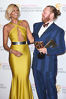 Leigh Francis and Alesha Dixon<br /> in the winners room at the 2016 BAFTA TV Awards, Royal Festival Hall, London<br /> <br /> <br /> &copy;Ash Knotek  D3115 8/05/2016