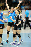 Rüsselsheim, Germany, April 13: Martina Boscoscuro #9 of the VC Wiesbaden celebrate? after winning a point during play off Game 1 in the best of three series in the semifinal of the DVL (Deutsche Volleyball-Bundesliga Damen) season 2013/2014 between the VC Wiesbaden and the Rote Raben Vilsbiburg on April 13, 2014 at Grosssporthalle in Rüsselsheim, Germany. Final score 0:3 (Photo by Dirk Markgraf / www.265-images.com) *** Local caption ***