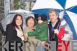 Pictured at the Santa parade in Listowel on Sunday were l-r: Caroline Gleeson, Daithi Daly Lynch, Maire Daly and Billy Keane..