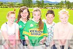 Kayleigh O'Leary, Joanne Healy, Louise O'Sullivan, Conor Teahan and Eilish O'Leary enjoying the Kilcummin funday on Sunday