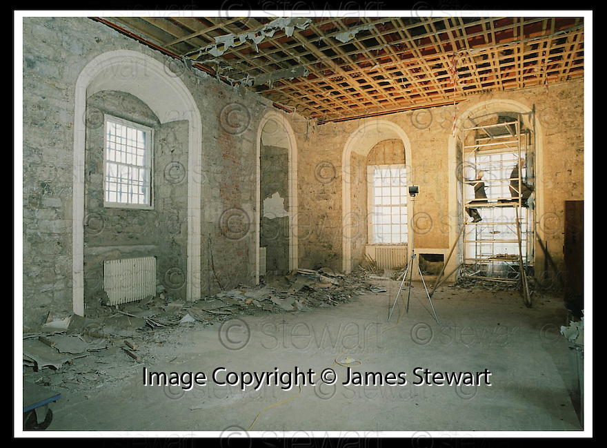 10/06/2008   Collect Pic: James Stewart.File Name : sct_19_stirling.Recent images of the Queen's Outer Hall during conservation works..James Stewart Photo Agency 19 Carronlea Drive, Falkirk. FK2 8DN      Vat Reg No. 607 6932 25.Studio      : +44 (0)1324 611191 .Mobile      : +44 (0)7721 416997.E-mail  :  jim@jspa.co.uk.If you require further information then contact Jim Stewart on any of the numbers above........