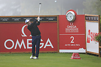 Scott Hend (AUS) tees off the 2nd tee during Saturday's Round 3 of the 2017 Omega European Masters held at Golf Club Crans-Sur-Sierre, Crans Montana, Switzerland. 9th September 2017.<br /> Picture: Eoin Clarke | Golffile<br /> <br /> <br /> All photos usage must carry mandatory copyright credit (&copy; Golffile | Eoin Clarke)