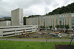 Construction site apartment housing in Fantoft suburb, Bergen, Norway