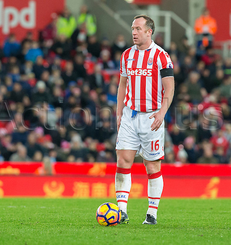 03.12.2016. Bet365 Stadium, Stoke, England. Premier League Football. Stoke City versus Burnley. Stoke City midfielder Charlie Adam prepares to take a free kick.