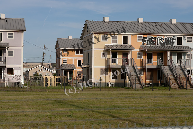 Abandoned and dilapidated apartment buildings on France Street and Florida Avenue.