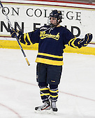 Connor Toomey (Merrimack - 25) - The visiting Merrimack College Warriors tied the Boston College Eagles at 2 on Sunday, January 8, 2011, at Kelley Rink/Conte Forum in Chestnut Hill, Massachusetts.