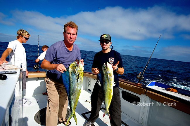 Offshore fishing off the coast of San Diego and Northern Baja California on the sport fisher Faith  Two nice Dorado and some small Yellowtail.