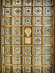 Ceiling of the Basilica di Sant'Apollinare Nuevo, 6th century Byzantine mosaics, Ravenna, Italy