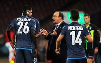 Rafael Benitez durante l'incontro  di calco d Seriden A  tra SSC Napoli e US Palermo    allo stadio San Paolo di Napoli , 24 Settembre  2014