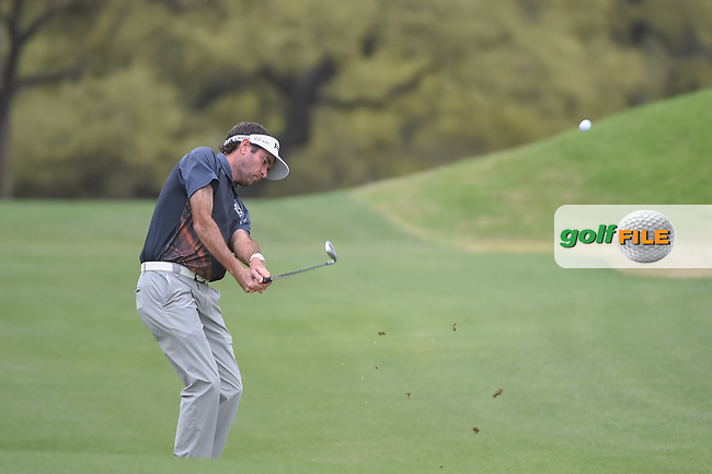 Bubba Watson (USA) hits his approach shot on 1 during day 5 of the World Golf Championships, Dell Match Play, Austin Country Club, Austin, Texas. 3/25/2018.<br /> Picture: Golffile | Ken Murray<br /> <br /> <br /> All photo usage must carry mandatory copyright credit (© Golffile | Ken Murray)