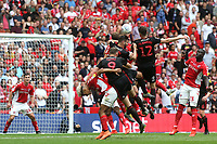 Tom Flanagan of Sunderland heads the ball towards the Charlton goal during Charlton Athletic vs Sunderland AFC, Sky Bet EFL League 1 Play-Off Final Football at Wembley Stadium on 26th May 2019