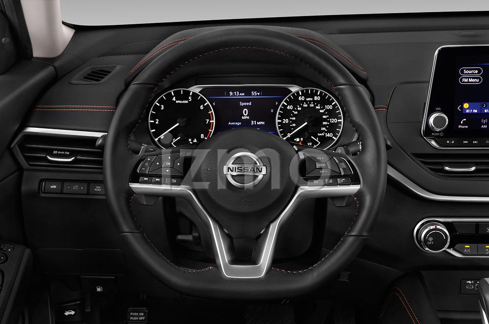 Car pictures of steering wheel view of a 2019 Nissan Altima SR-FWD 4 Door Sedan Steering Wheel